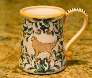 Golden Retriever Stein Mug