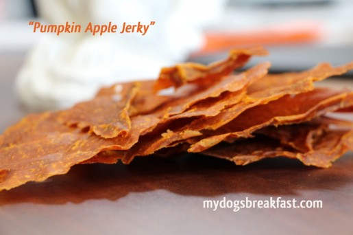 Pumpkin Apple Jerky from mydogsbreakfast.com