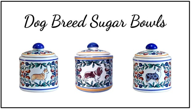 Dog breed sugar bowls