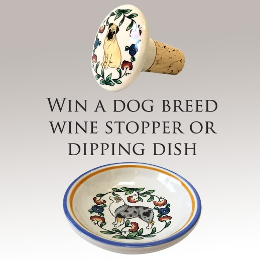 Win a dog breed wine stopper or ring dish