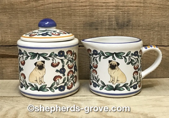 pug sugar bowl and creamer from shepherds-grove.com