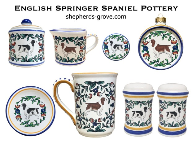 English-Springer-Spaniel-Pottery