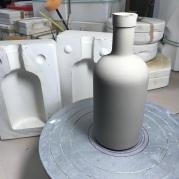 Slipcast bottle