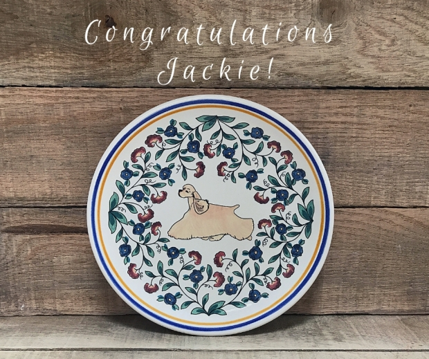 Cocker-Spaniel-Plate Winner