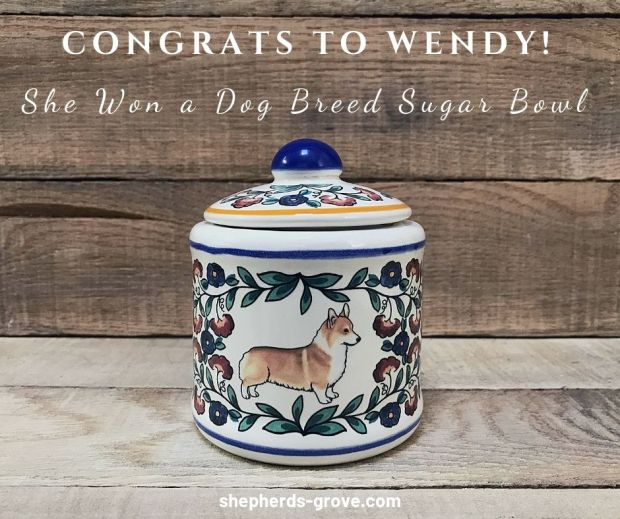Corgi Sugar Bowl May Giveaway